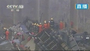 Крушение, грузовик, Китай, авария