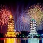 Как китайцы встретили Новый год Козы (видео)
