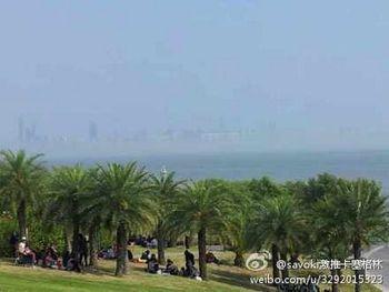 мираж, Китай, море, туман