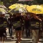 Желтые зонтики вернулись на улицы Гонконга