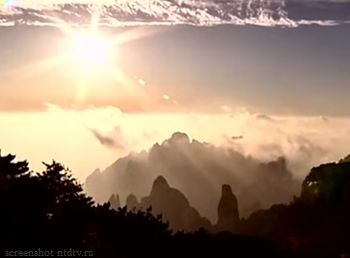 мираж, горы, Китай