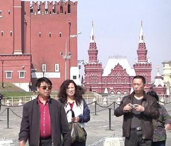 китайские туристы, Москва,
