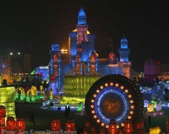 лед, снег, выставка, Китай