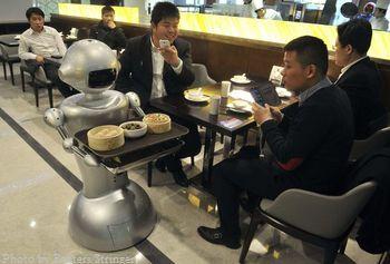 ресторан, Китай, робот