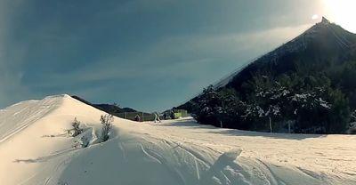 Наньшань, курорт, лыжи, спуск