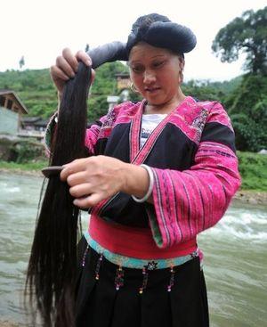 волосы, женщина, Китай
