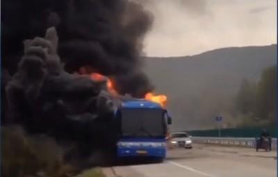 автобус, Китай. пожар
