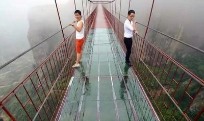 мост, стекло, Китай