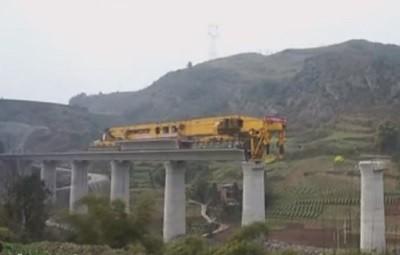 гигант, строительство, машина, дорога, мост