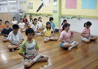 медитация, дети