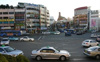 такси, Китай, улица,