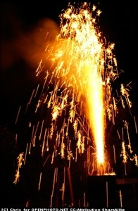 взрыв, огонь