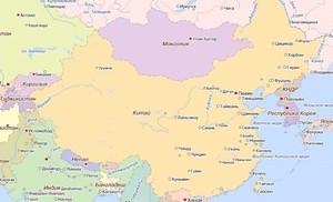 Китай, карта