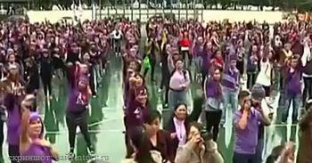 Китай, Гонконг, флеш-моб, танцы