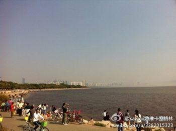 мираж, Китай, океан, туман