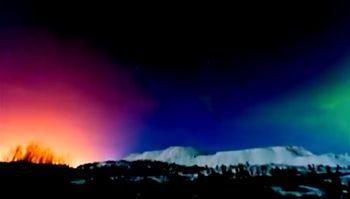 северное сияние, Китай, природа, небо