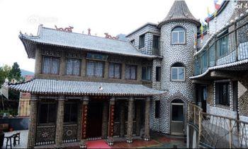 Китай, дом, ракушки, дизайн
