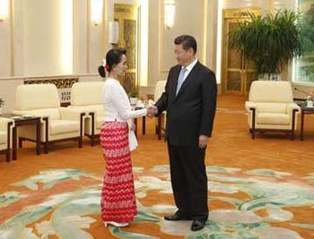 Аун Сан Су Чжи, Пекин