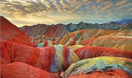 цветные скалы, Чжанъе,