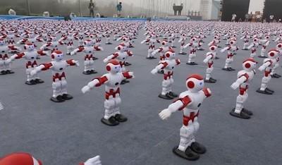роботы, танец, Китай