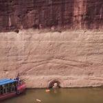 Голова древней статуи Будды появилась из-под воды в Китае