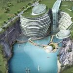 В Китае открылся необычный отель в котловане (видео)