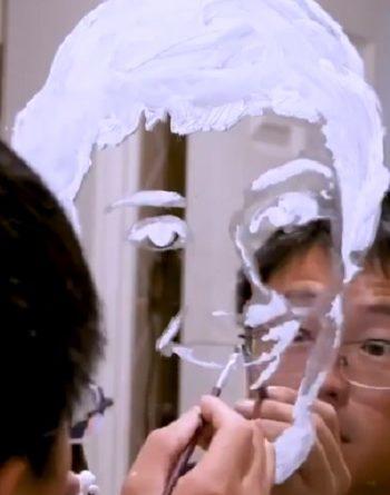 художник, зубная паста,