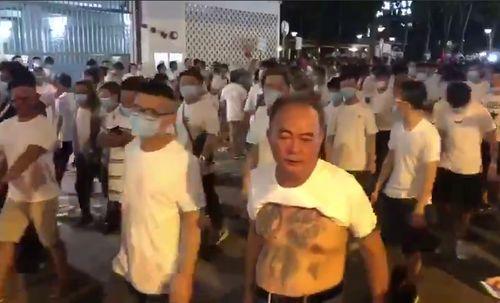 триада,Гонконг, протесты,