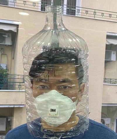 пластиковая канистра, коронавирус в Китае,