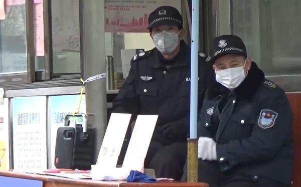 коронавирус в Китае, полиция,