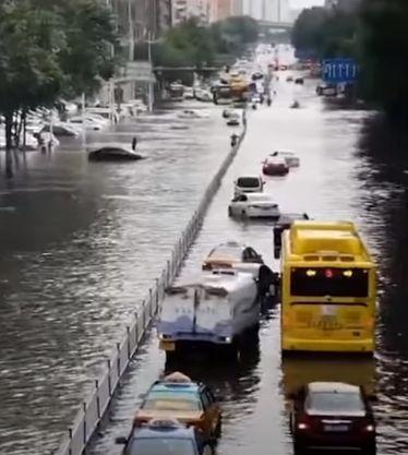 Харбин, стихия, град,